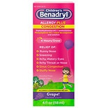 Children's Benadryl D Grape Children's Allergy & Sinus Liquid Grape Flavored Liquid