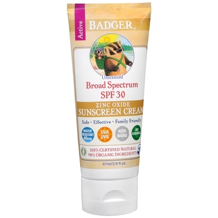 Badger Unscented Sunscreen, SPF 30