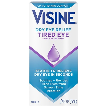 Visine Tired Eye Relief Lubricant Eye Drops