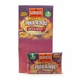 Lowrey's Bacon Curls, Microwave Pork Rinds Hot & Spicy,18 bags