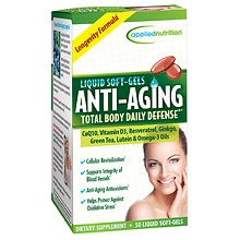 Applied Nutrition Anti-Aging Dietary Supplement Liquid Softgels