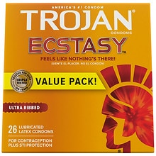 Ecstasy UltraSmooth Lubricated Premium Latex Condoms