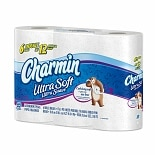 Charmin Ultra Soft Bathroom Tissue Unscented 6 Rolls White
