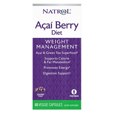 Natrol Acai Berry Diet Dietary Supplement Capsules