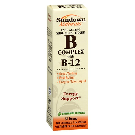 Sundown Naturals Sublingual B Complex with B-12