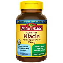 Nature Made Flush-Free Niacin 500 mg Dietary Supplement Liquid Softgels