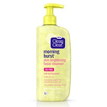 Clean & Clear Morning Burst Skin Brightening Facial Cleanser Gel