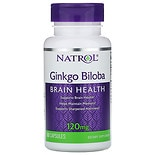 Natrol Ginkgo Biloba 120 mg Dietary Supplement Capsules