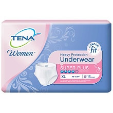 Tena Serenity Women's Super Plus Heavy Protection Underwear, Extra Large