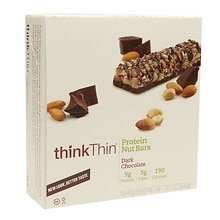 thinkThin Crunch, The Lower Sugar Nut Bar Chocolate Dipped Mixed Nuts