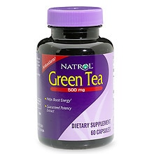 Natrol Green Tea 500 mg Dietary Supplement Capsules