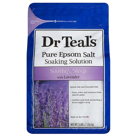 Dr. Teal's Epsom Salt Soaking Solution, Soothe & Sleep Lavender