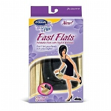 Dr. Scholl's for Her For Her Fast Foldable Flats Fits Sizes 9-10 Women's Sizes 9-10
