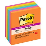 Post-it Notes, Super Sticky Notes, Assorted