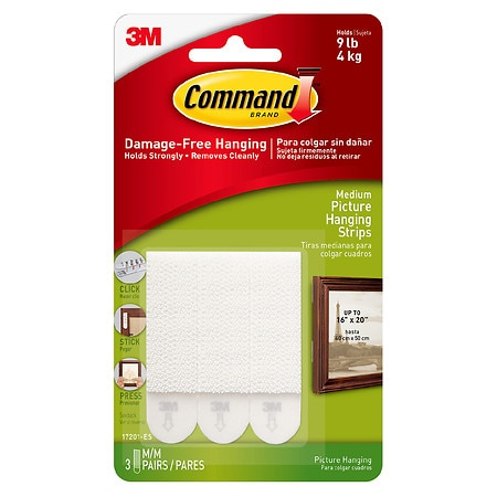 Command Strips Damage Free Hanging:  Picture, Frame & Poster Hanging Strips Medium