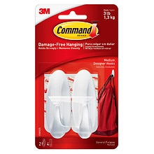 Command Strips Command Designer Hooks 2 medium hooks / 4 strips