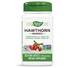Nature's Way Hawthorn Berries 510 mg Dietary Supplement Capsules