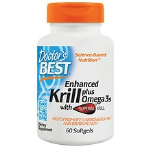 Doctor's Best Real Krill Enhanced with DHA & EPA, Softgels