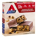 Atkins Advantage Meal Bars, 5 Chocolate Chip Cookie Dough