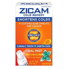 Zicam Cold Remedy Plus Oral Mist Arctic Mint Arctic Mint Flavor