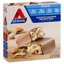 Atkins Advantage Snack Bars Coconut Almond Delight