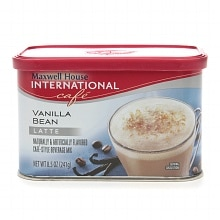 Hot Latte Cafe-Style Beverage Mix Vanilla Bean Latte