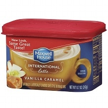 Maxwell House International Cafe Vanilla Caramel Latte Cafe-Style Beverage Mix Vanilla Caramel Latte