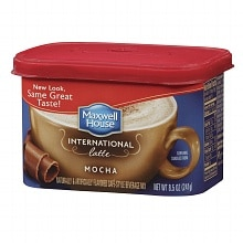 Maxwell House International Cafe Hot Latte Cafe-Style Beverage Mix Mocha Latte