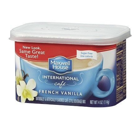 Maxwell House International Cafe Style Beverage Mix, Sugar Free French Vanilla Cafe