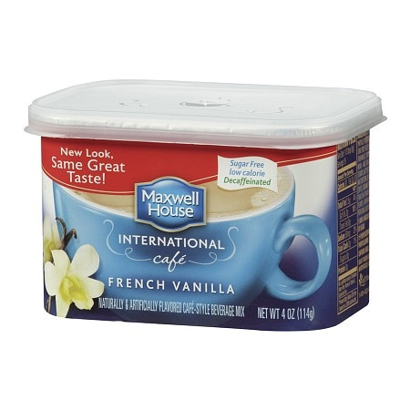 Maxwell House International Cafe Style Beverage Mix, Decaffeinated & Sugar Free French Vanilla Cafe