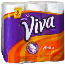 Paper Towels, Regular Roll, White