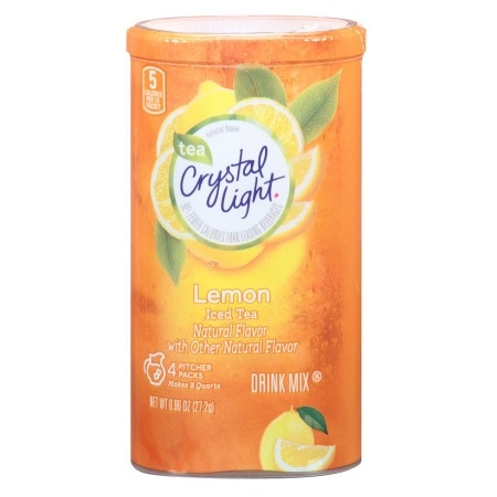 Crystal Light Drink Mix Iced Tea with Natural Lemon