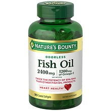 Odorless Fish Oil, Double Strength, Softgels