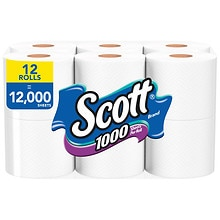 Bathroom Tissue Unscented 12 Rolls, White