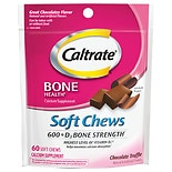 Caltrate Calcium & Vitamin D Supplement, 600+D, Soft Chews Chocolate Truffle
