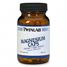 Twinlab Magnesium 400 mg Dietary Supplement Capsules