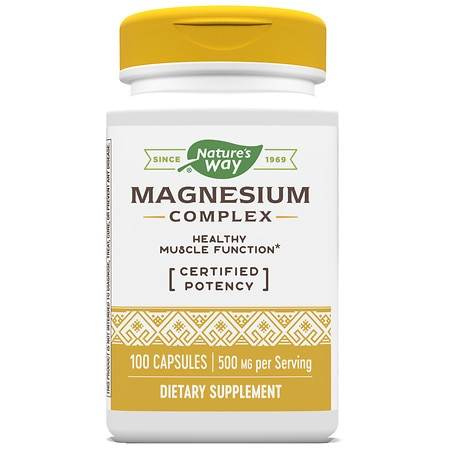 Nature's Way Magnesium Complex Dietary Supplement Capsules