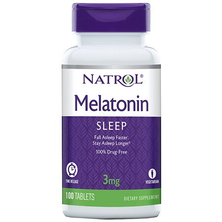 Natrol Melatonin TR 3 mg Dietary Supplement Tablets