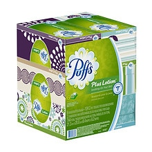 Puffs Plus Lotion Facial Tissues 6 boxes (124 count each)