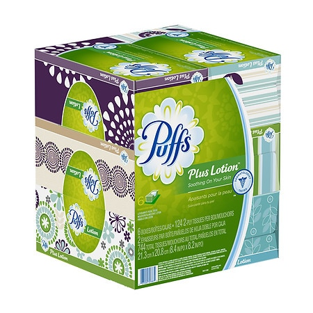 Puffs Plus Lotion Facial Tissues 6 pk