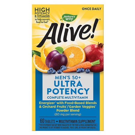 Nature's Way Alive! Once Daily Multivitamin & Whole Food Energizer Dietary Supplement Tablet