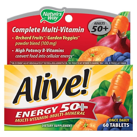 Nature's Way Alive! Energy 50+ Multivitamin, Tablets