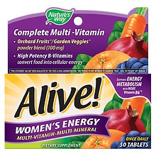 Alive! Women's Energy Multivitamin Multimineral Tablets
