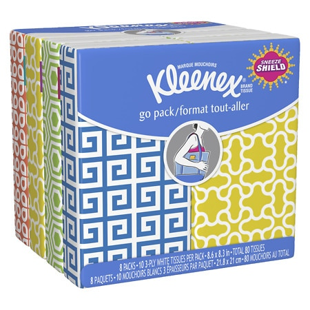Kleenex Pocket Pack Facial Tissue 8 pk