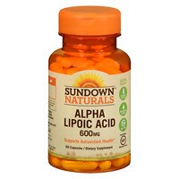 Sundown Naturals Super Alpha Lipoic Acid, 600mg, Capsules