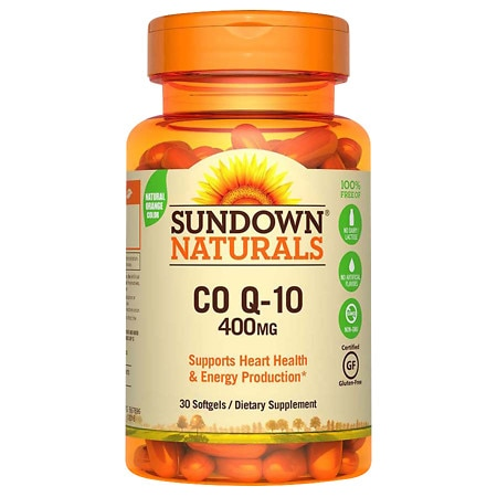 Sundown Naturals Q-Sorb CoQ10, 400mg, Softgels