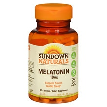 Sundown Naturals Melatonin, 10mg, Capsules
