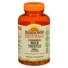 Sundown Naturals Milk Thistle Xtra 240 mg per Serving Herbal Supplement Capsules