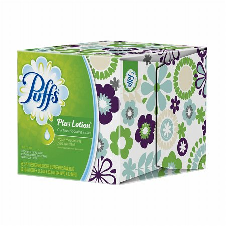 Puffs Plus Lotion Facial Tissues, Cube 1 box (56 count)