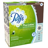 Puffs Plus Lotion Facial Tissues, Cube 4 boxes (56 count each)